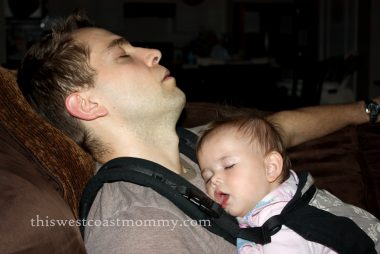 Sleeping Daddy and Baby