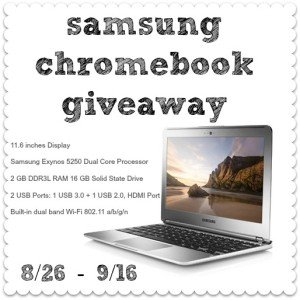 Samsung Chromebook Giveaway | This West Coast Mommy