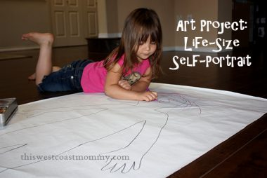 Art Project: Life-Size Self-Portrait | This West Coast Mommy