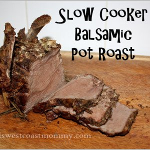 Slow Cooker Balsamic Pot Roast #Paleo #Recipe | This West Coast Mommy