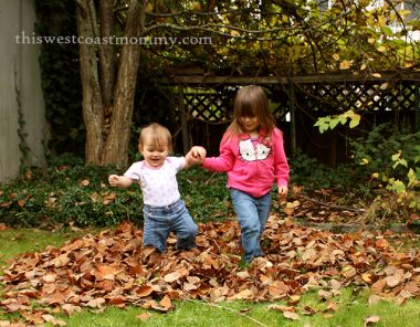 Wordless Wednesday: Playing in Fall Leaves