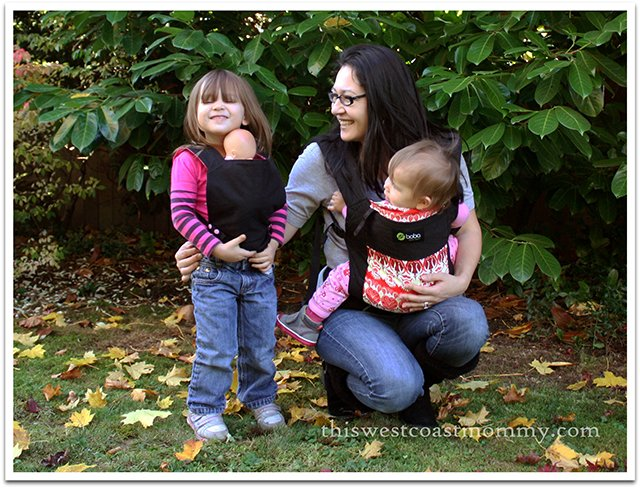 A Whyknotmom doll carrier makes a great gift for big sister or brother! #HolidayGiftGuide