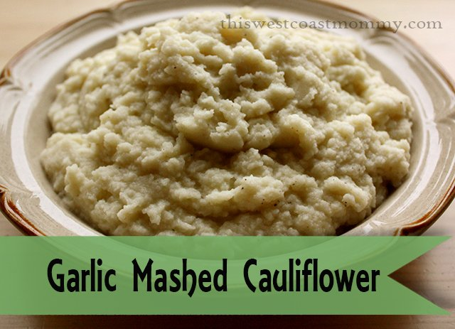 Garlic Mashed Cauliflower makes a great #paleo #glutenfree substitute for mashed potatoes!