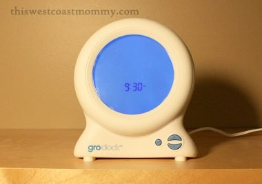 The Gro-clock helps teach toddlers and preschoolers when to go back to sleep and when it's time to get up. A gift for everyone involved! #HolidayGiftGuide