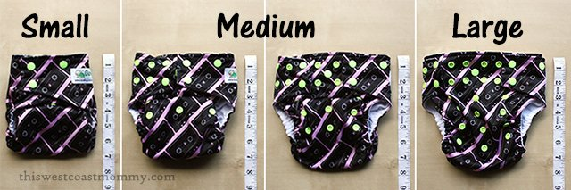 Glow Bug Cloth Diapers fit from 7-35 pounds. They're good for the environment and good for baby – what a wonderful gift that keeps on giving! #HolidayGiftGuide