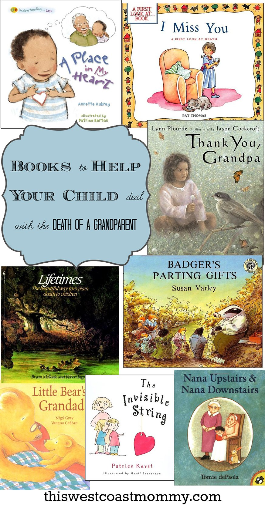 Books to help your child deal with the death of a grandparent