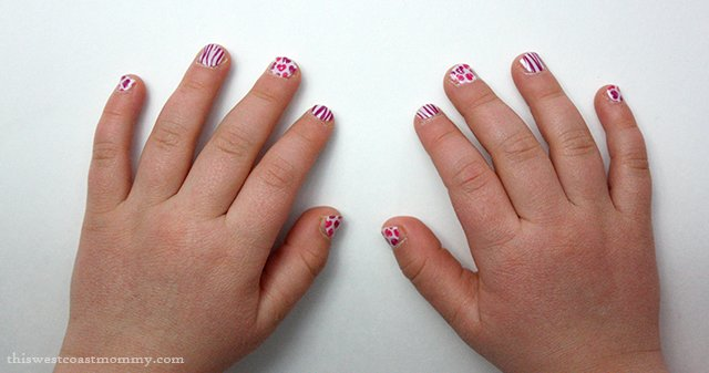 Jamberry also makes Jamberry Juniors, nail wraps in a smaller size suitable for kids.