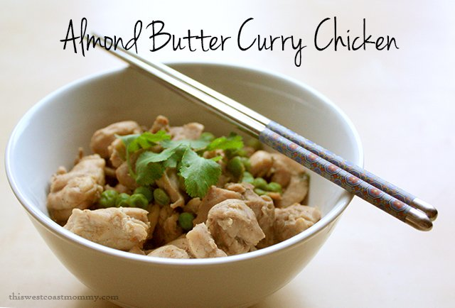 This rich, spicy, and nutty almond butter curry chicken recipe is paleo-friendly, dairy-free, and delicious!