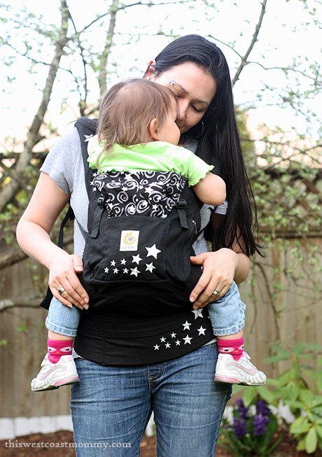 Ergobaby Original Carrier Babywearing Review - front carry with 20 month old, 26 lbs.