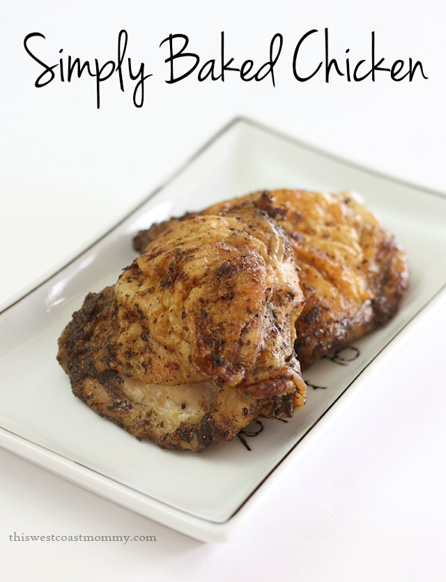 This simply baked chicken is incredibly quick and easy to prepare. You'll love the crispy skin! (paleo, gluten-free, Whole30)