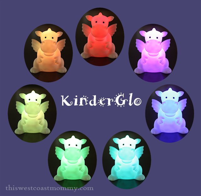 Set the KinderGlo Night Light to change colours or glow steady blue, steady red, or steady green.