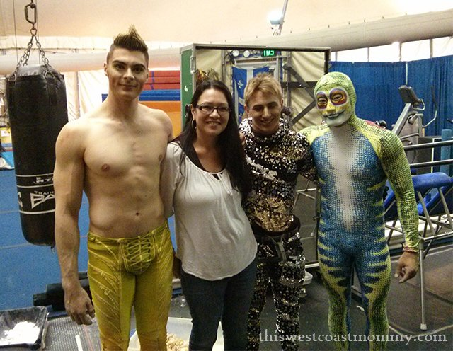 backstage with Cirque du Soleil TOTEM performers