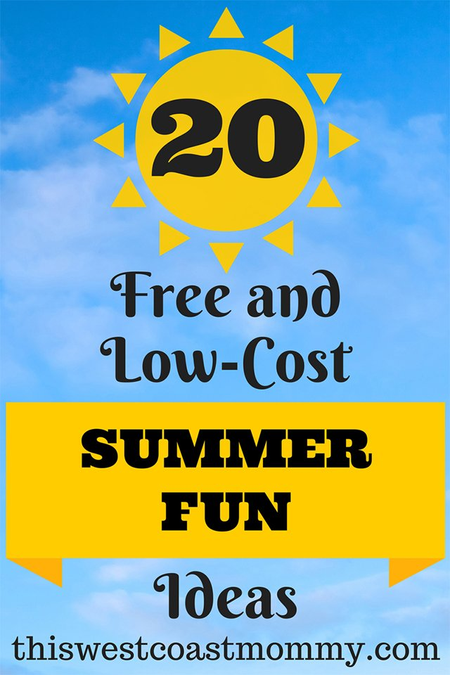 20 FREE and Low-Cost Summer Fun Ideas