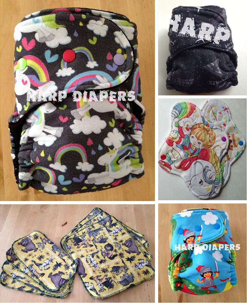 Harp Diapers collage
