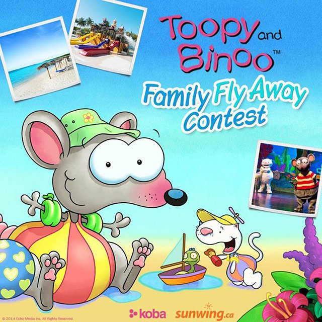 Toopy and Binoo Family Fly Away Contest