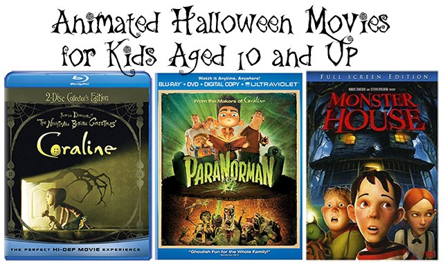 Animated Halloween Movies for kids aged 10 and up