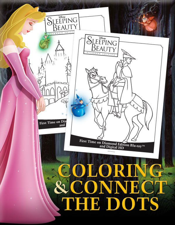 Sleeping Beauty Coloring & Connect the Dots