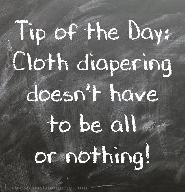 Cloth diapering doesn't have to be all or nothing.