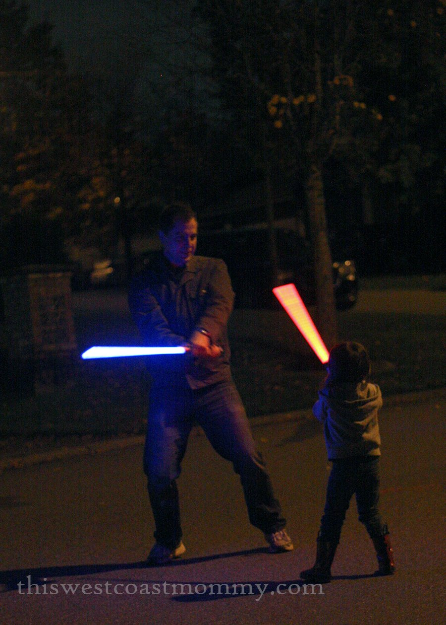 night time lightsaber battle