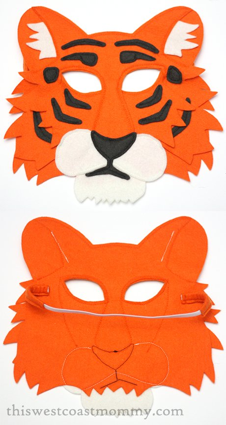 Mouse & Moose tiger play mask