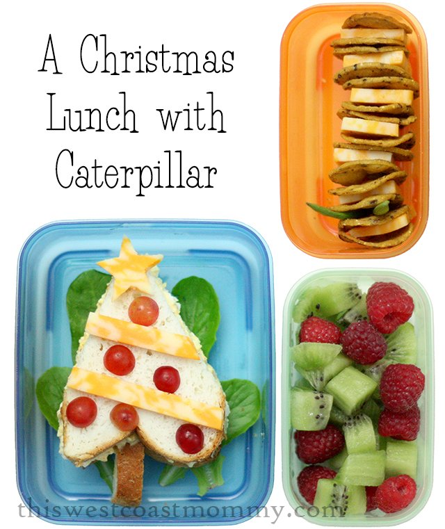 A Christmas lunch with caterpillar