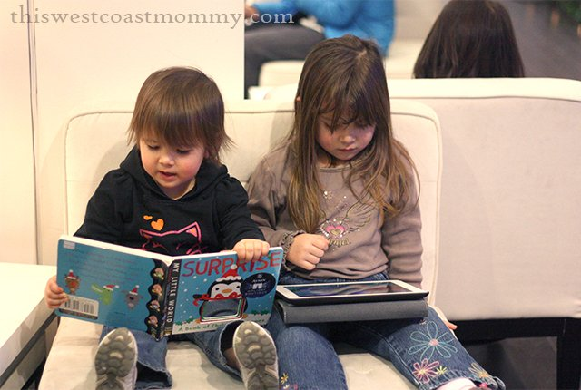 Complimentary iPad rentals and children's books available at RBC Avion Holiday Boutique