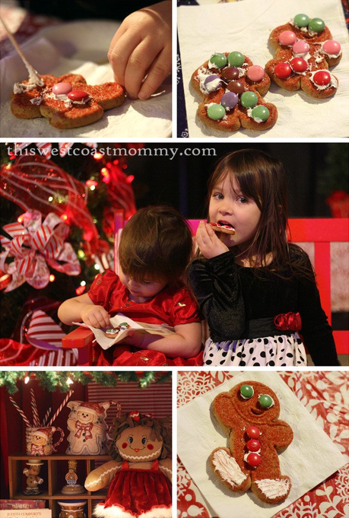 yummy gingerbread cookies at the North Pole