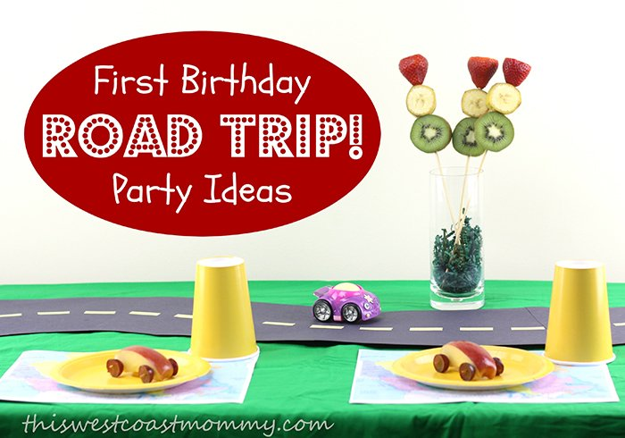 First birthday road trip party ideas inspired by Fisher-Price Little People