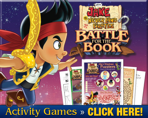 Jake and the Never Land Pirates Activity Sheets