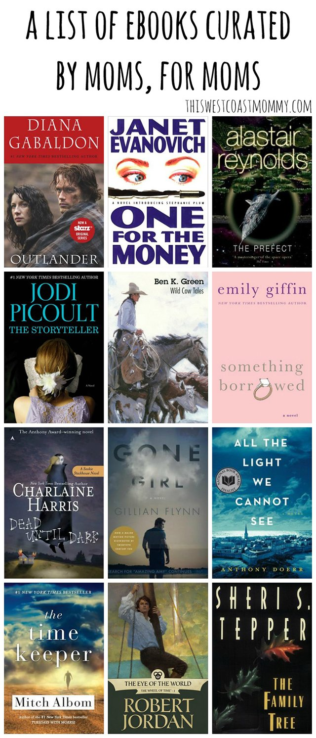 Check out this list of eBooks curated by moms, for moms! Grab a book, put your feet up, and take a few minutes for yourself!