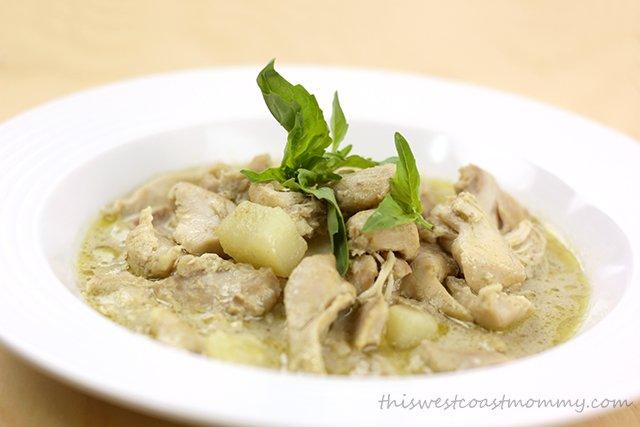 Easy Thai green curry chicken from your slow cooker.