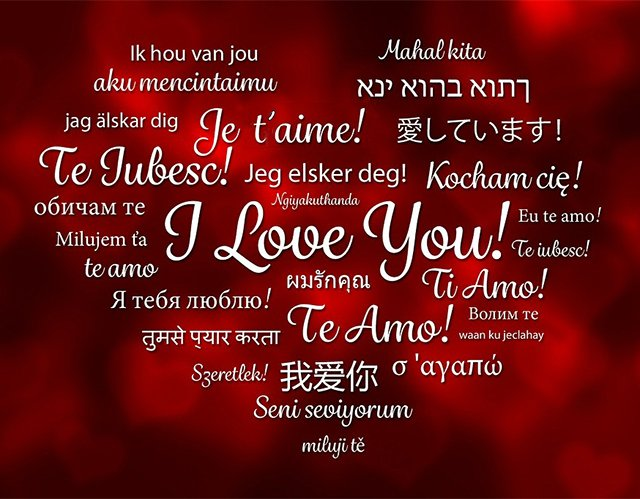 Learn how to say I love you in another language