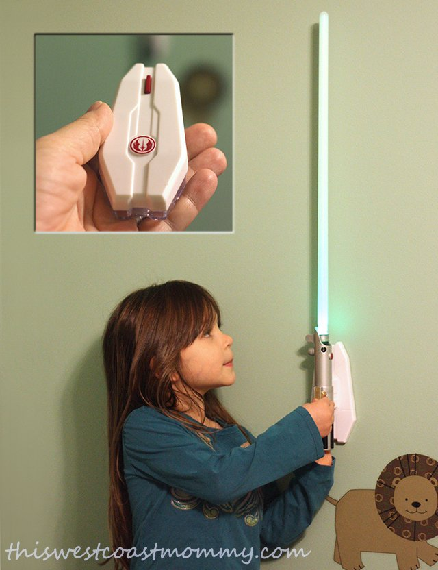 Check out Uncle Milton's Star Wars Science Lightsaber Room Light (with remote) - fun for every young padawan!