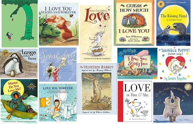 Snuggle up and read some books together all about love