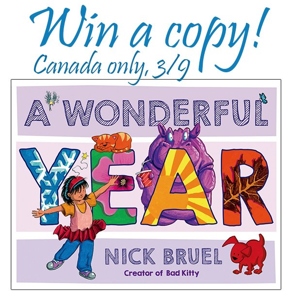 """Win a hardcover copy of """"A Wonderful Year"""" (CAN, 3/9)"""