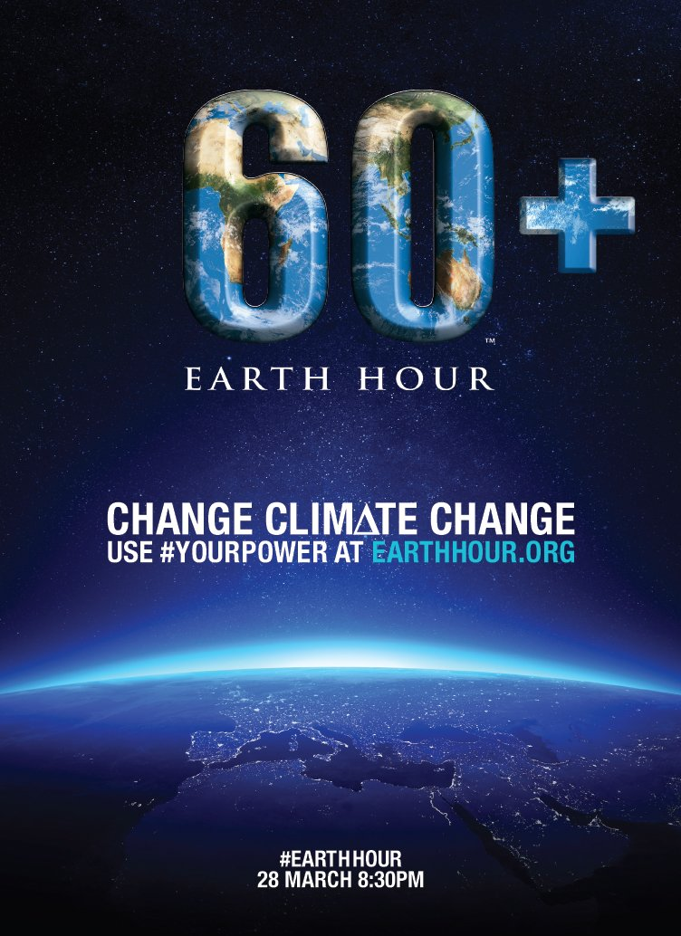Celebrate Earth Hour 2015 March 28 at 8:30 pm local time
