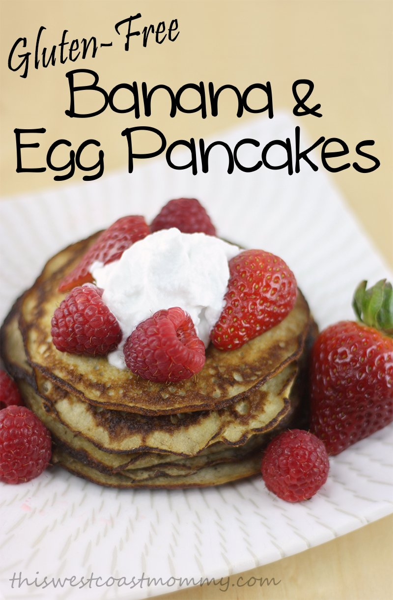 Make delicious gluten-free, dairy-free, paleo pancakes with just bananas and eggs! Top with fresh fruit and coconut cream instead of whipped cream, and you won't believe this decadent brunch is healthy as well as scrumptious!