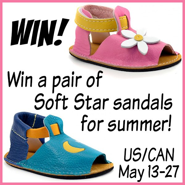 Win a pair of Soft Star children's sandals (US/CAN, 5/27)