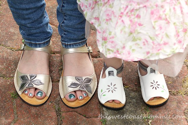 Mommy and daughter sandals from Soft Star Shoes. These shoes are incredibly light and comfortable from the moment you put them on!