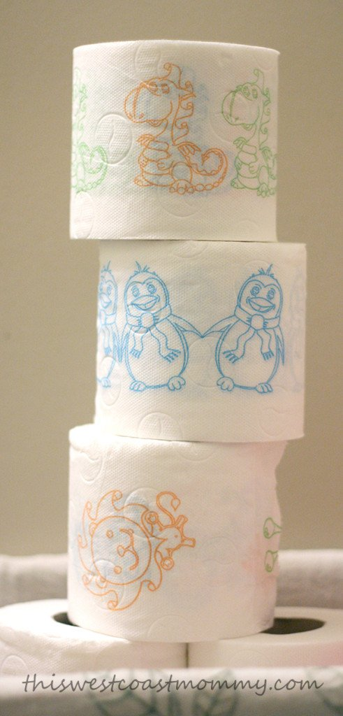 Love these fun designs on Renova's kids' toilet paper!