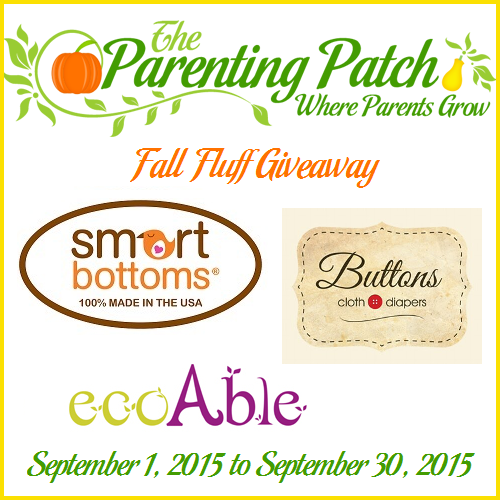 Fall Fluff Giveaway: Prizes from Smart Bottoms, Buttons, ecoAble (US, 9/30)