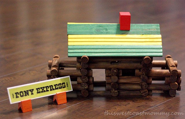 Frontier Logs Pony Express log cabin