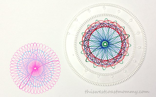 Spirograph lets you create beautiful and intricate flower shapes, spirals, and designs.