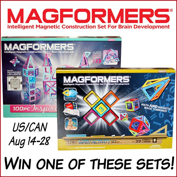 Win one of these Magformers set (US/CAN, 8/28)