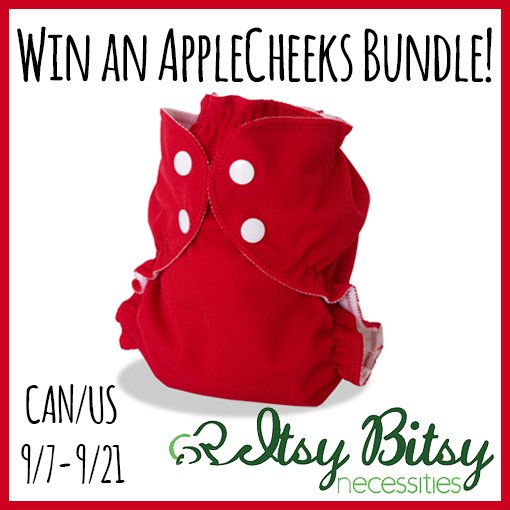Win an AppleCheeks bundle from Itsy Bitsy Necessities (US/CAN, 9/21)