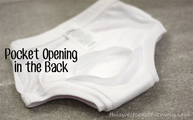 AppleCheeks Learning Pants come with a pocket and a microfiber booster for extra absorbency