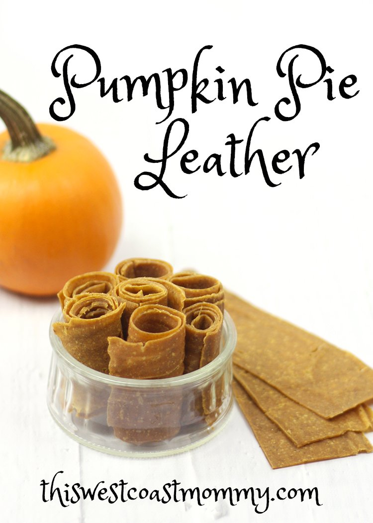 Pumpkin pie meets fruit roll-up! This homemade pumpkin pie leather is the best of both worlds minus all the sugar. Great for snacking and school lunches!
