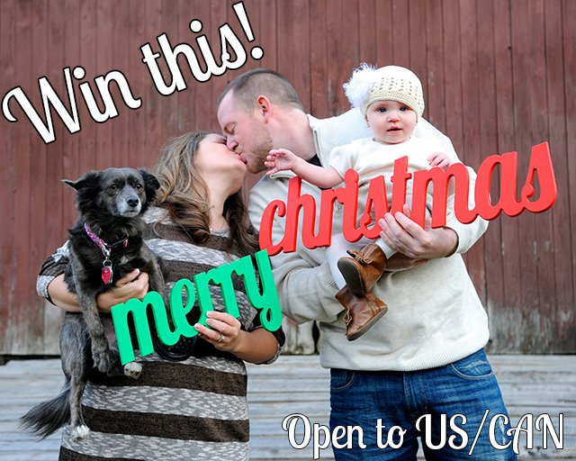 Win a Merry Christmas photo prop (US/CAN, 11/24)