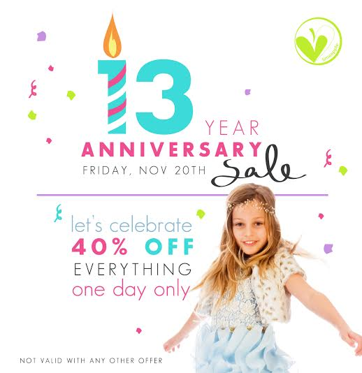 Shop Limeapple's One Day Anniversary Sale and get 40% off everything on Friday, November 20th!