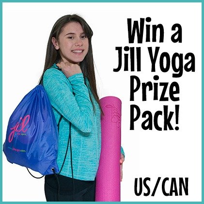 Win a Jill Yoga prize pack with yoga mat, bag, headband, and $25 GC! (US/CAN, 11/25)